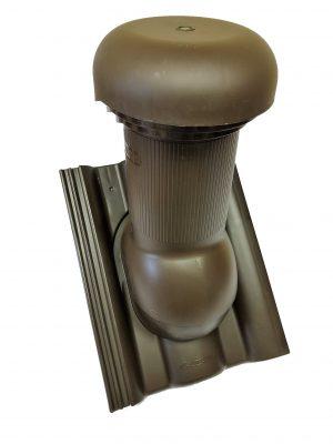 Prestupová škridla + odvetrávací komín D150 / DANUBIA